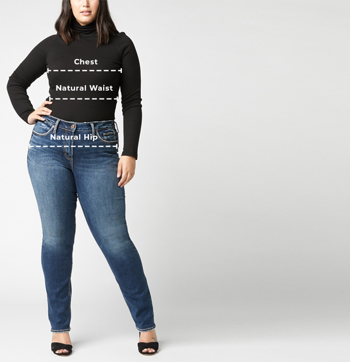 Plus Size Eased Curvy Fit Size Chart