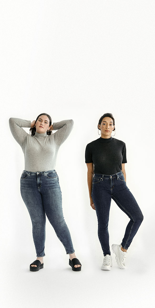 Silver Jeans Co.- Females wearing high rise fits