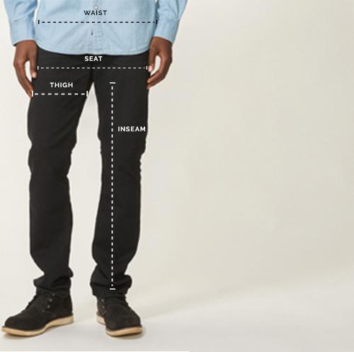 Men's Bottoms Size Chart