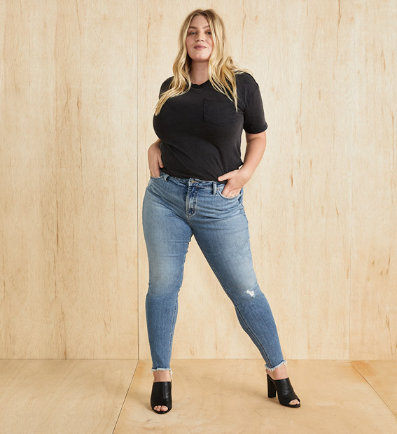 image of a Plus Size female wearing a new arrival