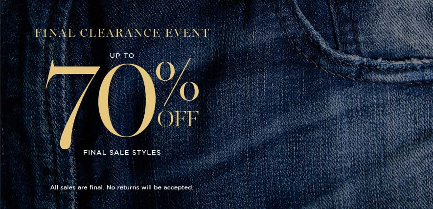 Silver Jeans Co. - FINAL CLEARANCE EVENT - Up to 70% OFF Final sale styles All sales are final. No returns will be accepted.