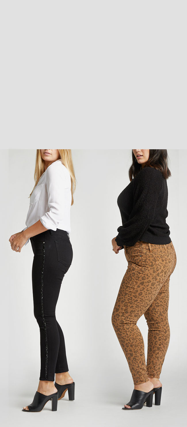 Silver Jeans Co.- image of females wearing fits from the trend shop