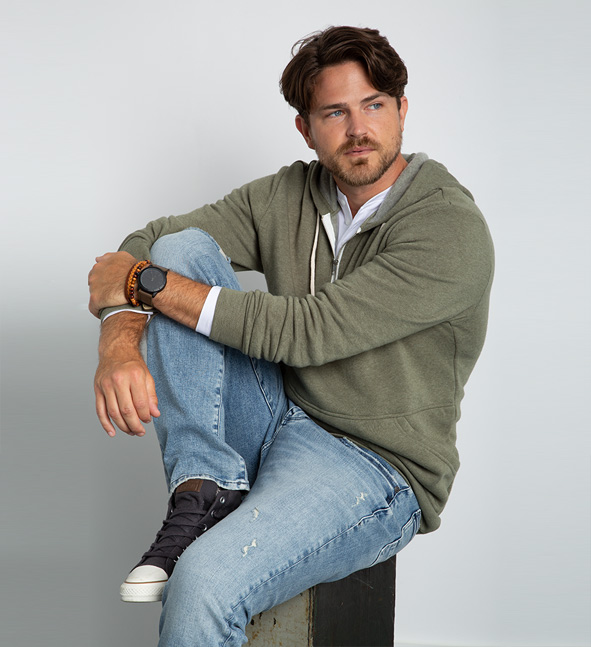 image of a male wearing a designers pick denim style