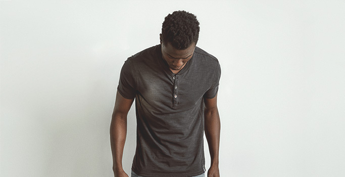 Silver Jeans Co. - Koby Henley modeled in a size medium