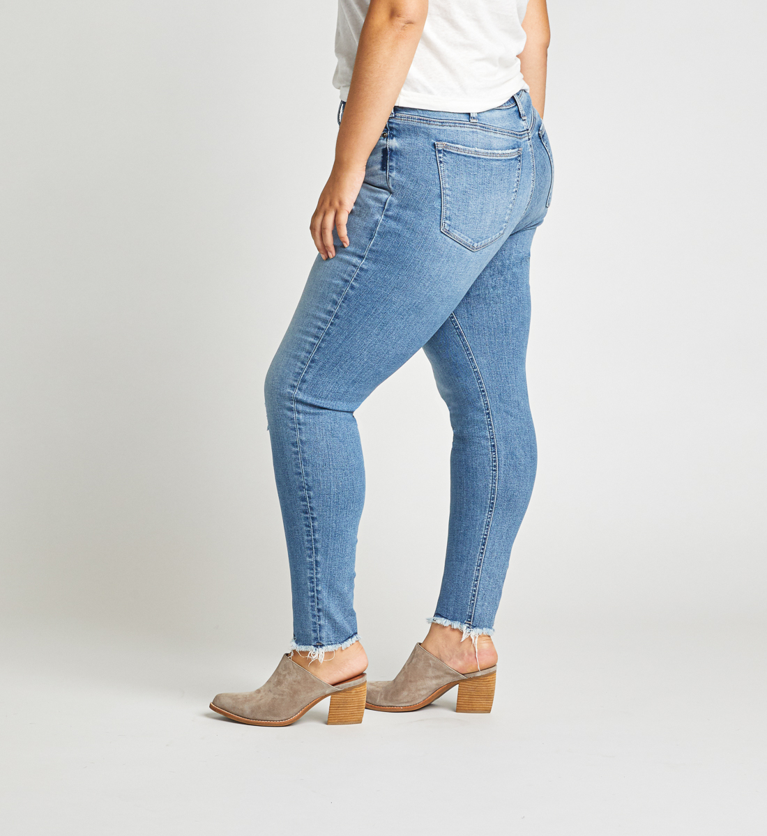 High Note High Rise Skinny Jeans Plus Size Back