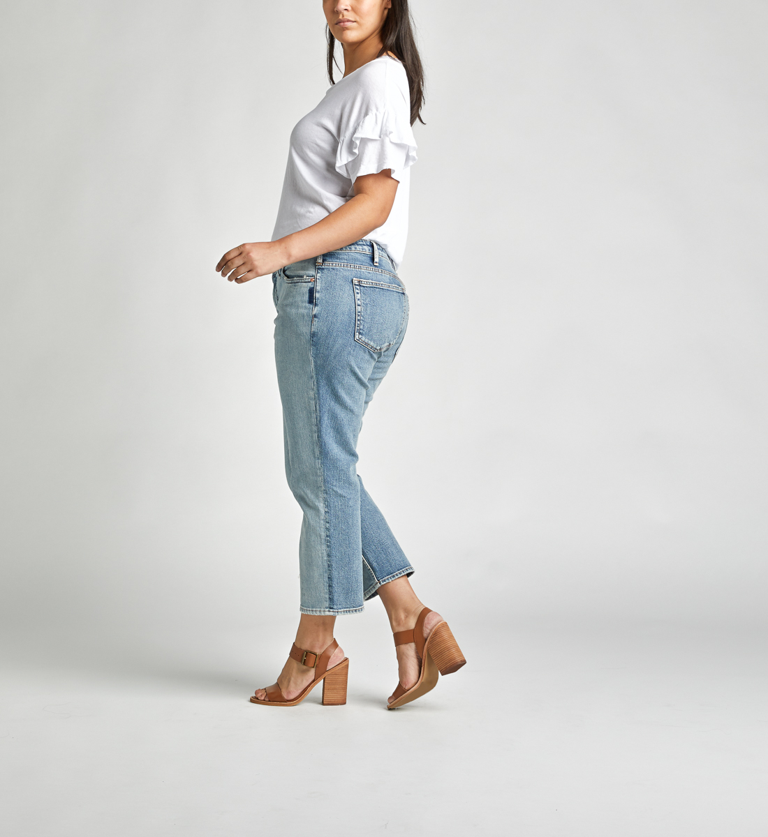 High Note High Rise Slim Crop Jeans Plus Size, , hi-res