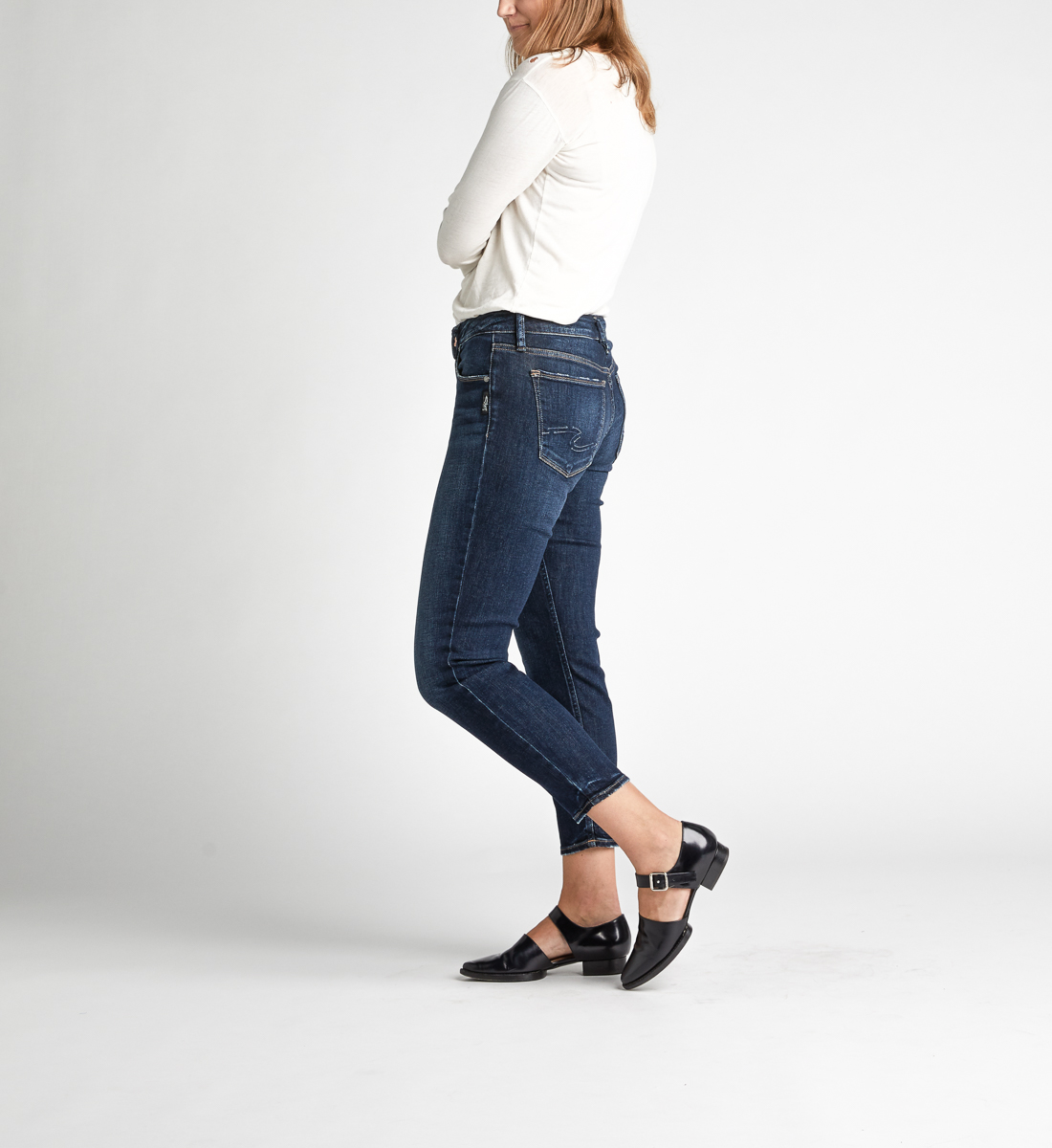 Avery High Rise Skinny Crop Jeans Alt Image 4