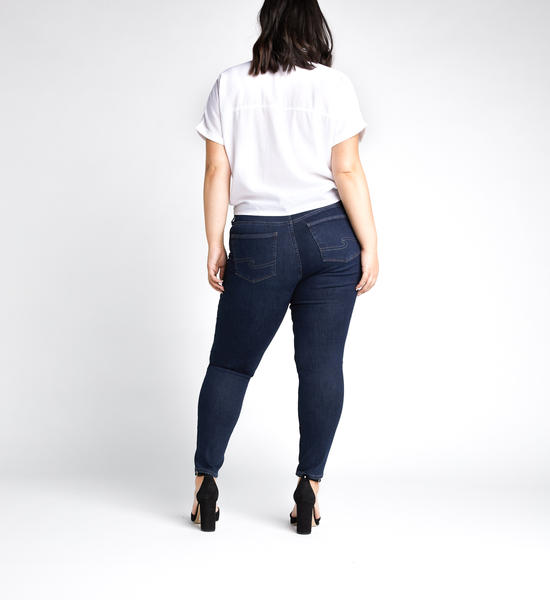 Avery High Rise Skinny Leg Jeans Plus Size,Indigo Back