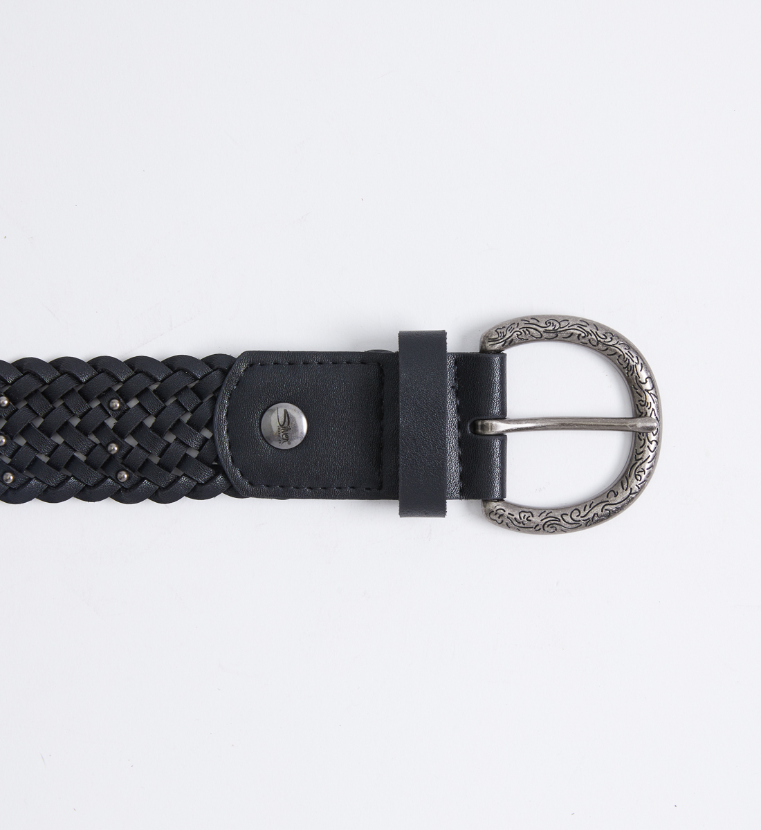 Womens Braided Belt Front