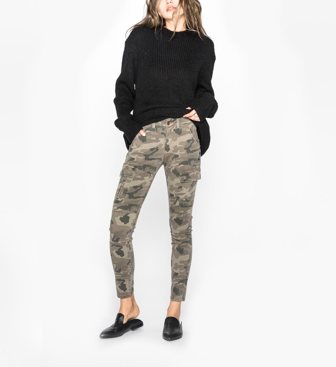 30b1a8f4 Skinny Cargo Mid Rise Skinny Leg Pants, Olive Camo, hi-res