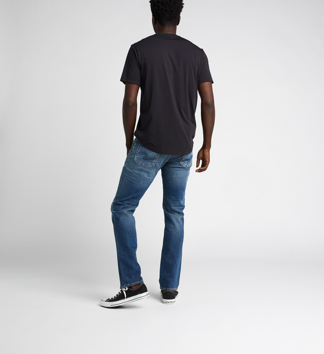 Allan Classic Fit Straight Jeans Back