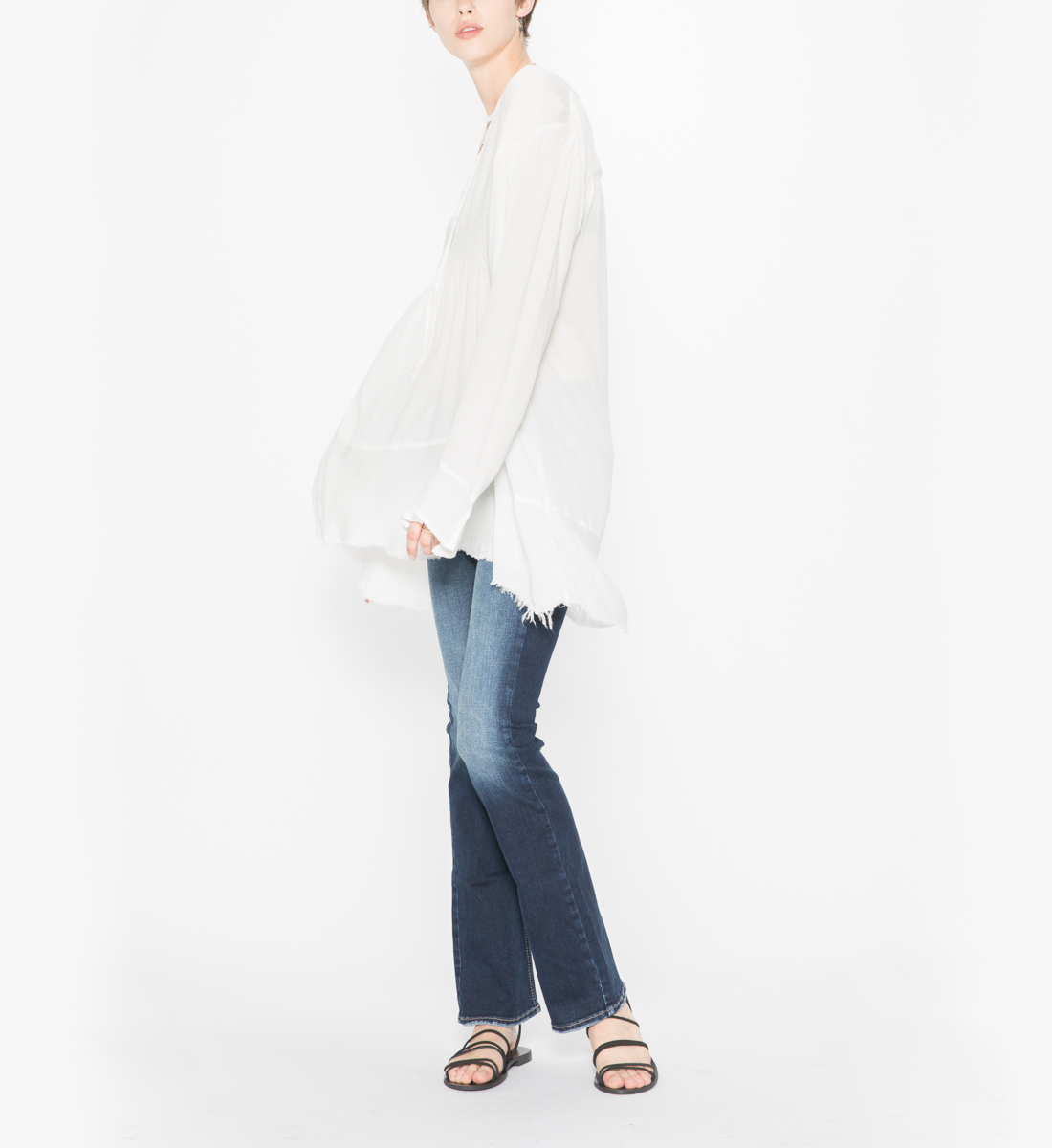 3a8f07e331e Sophia - Flowy Tunic Peasant Top, Cloud, hi-res. SKU # L18DT4021. Silver  Jeans