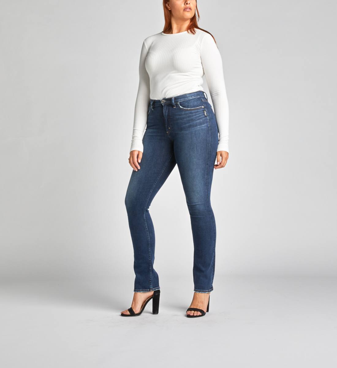 Calley Super High Rise Straight Leg Jeans Alt Image 1