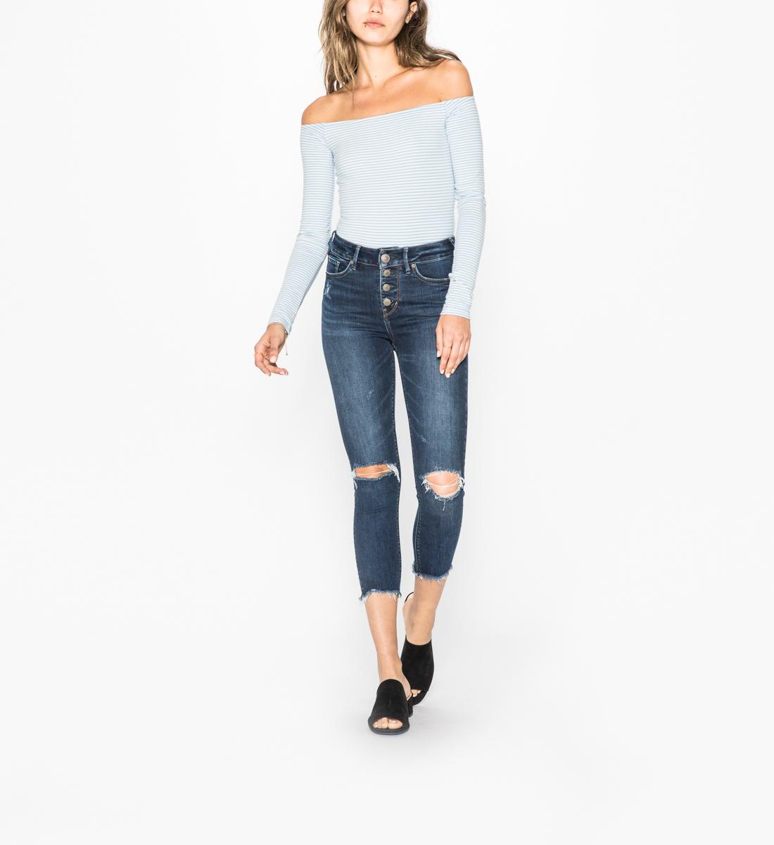 4f835a2b Mazy Skinny Crop Dark Wash | Silver Jeans