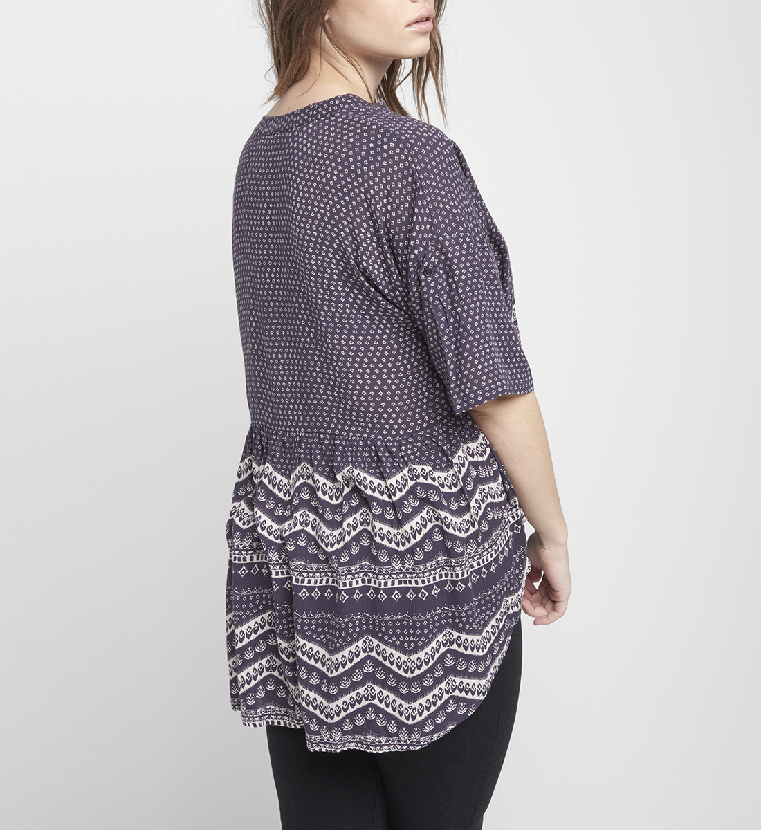 Eden Printed High-Low Blouse Back