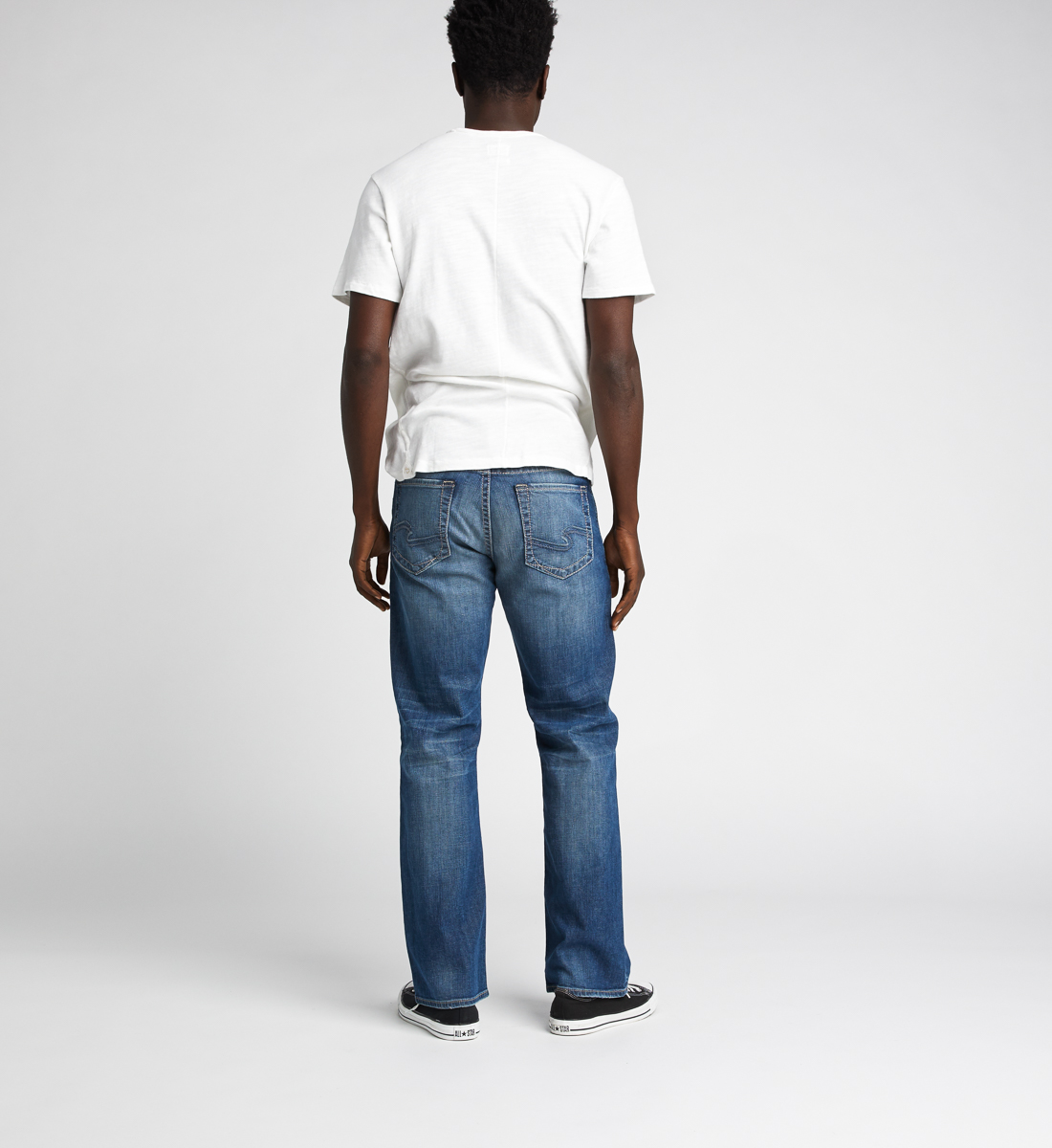 Craig Easy Fit Bootcut Jeans,Indigo Back
