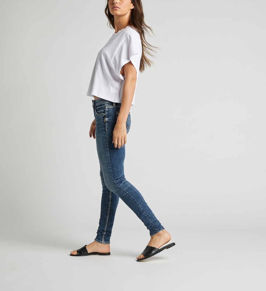 Avery High Rise Skinny Leg Jeans Side
