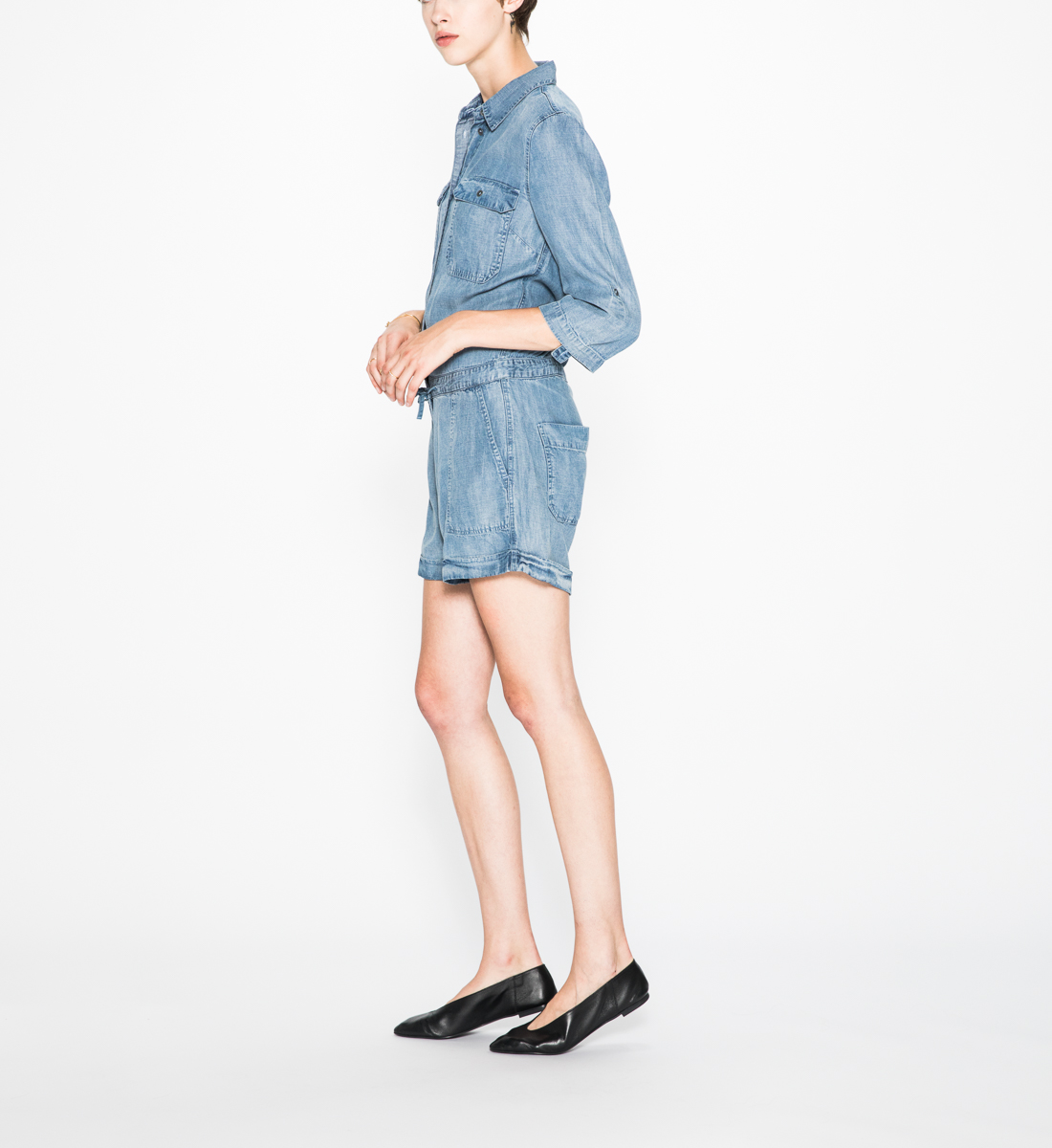 Shea - Denim Romper, , hi-res