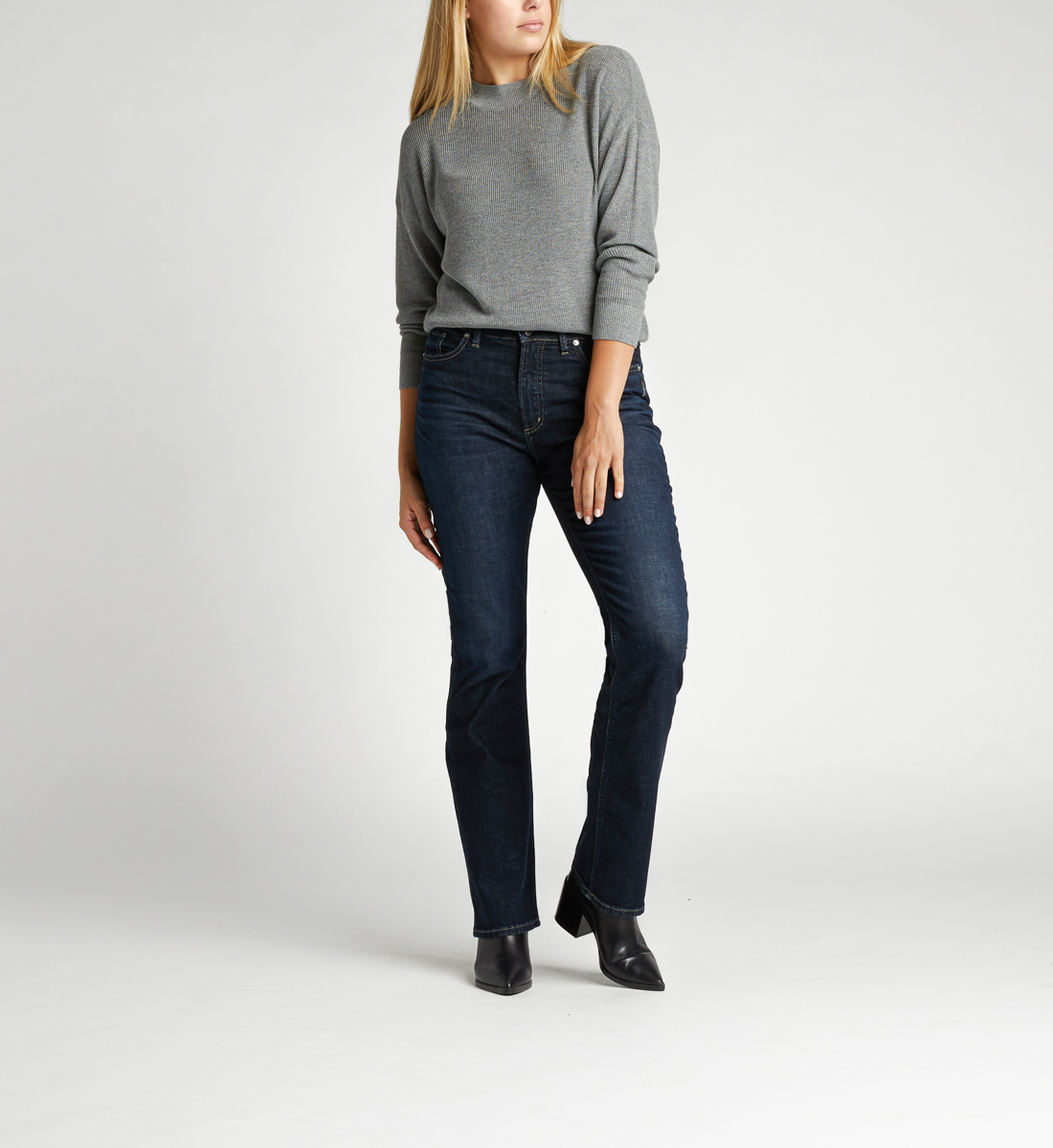 Calley Super High Rise Slim Bootcut Jeans Alt Image 1