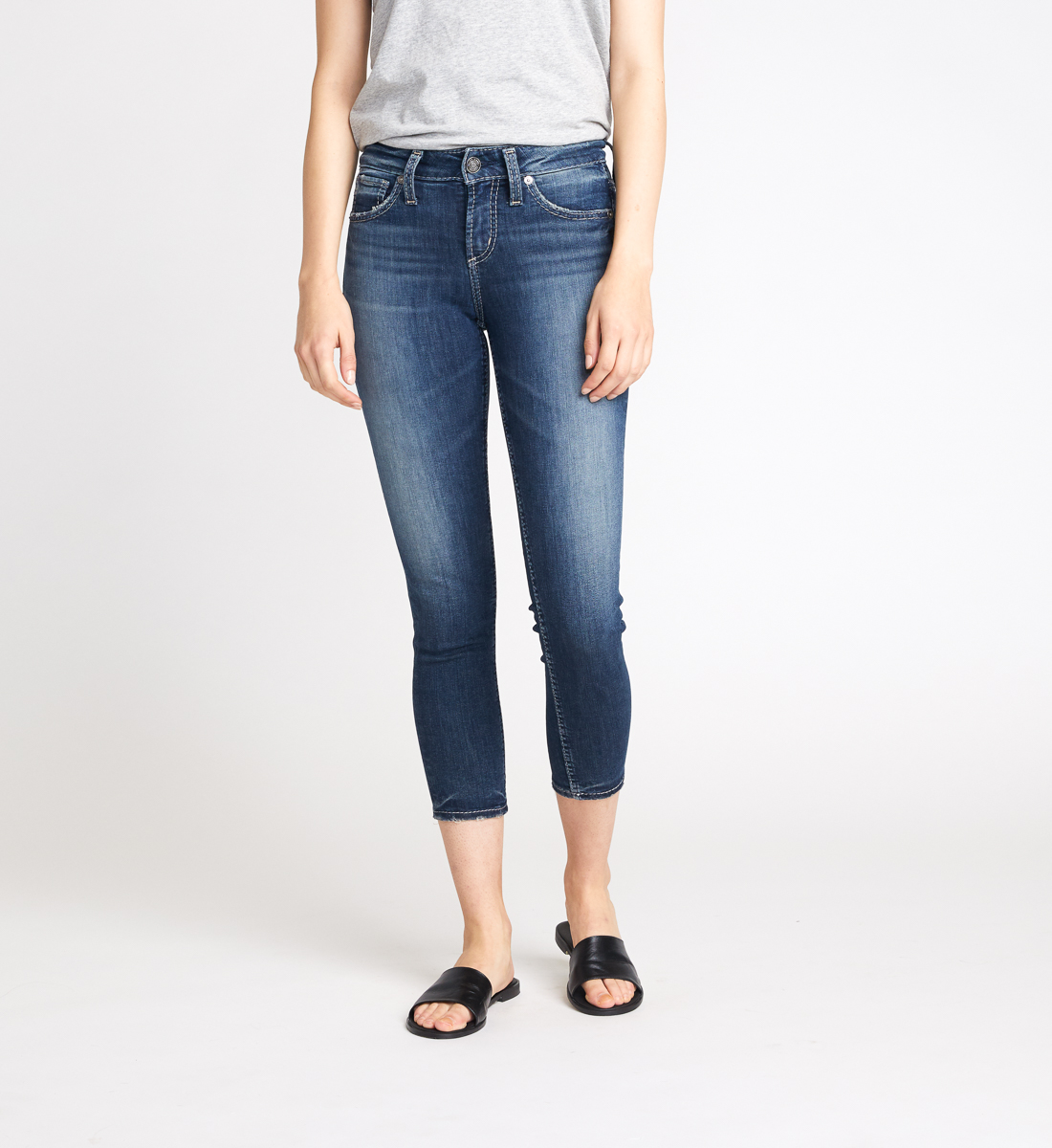Avery High Rise Skinny Crop Jeans Front