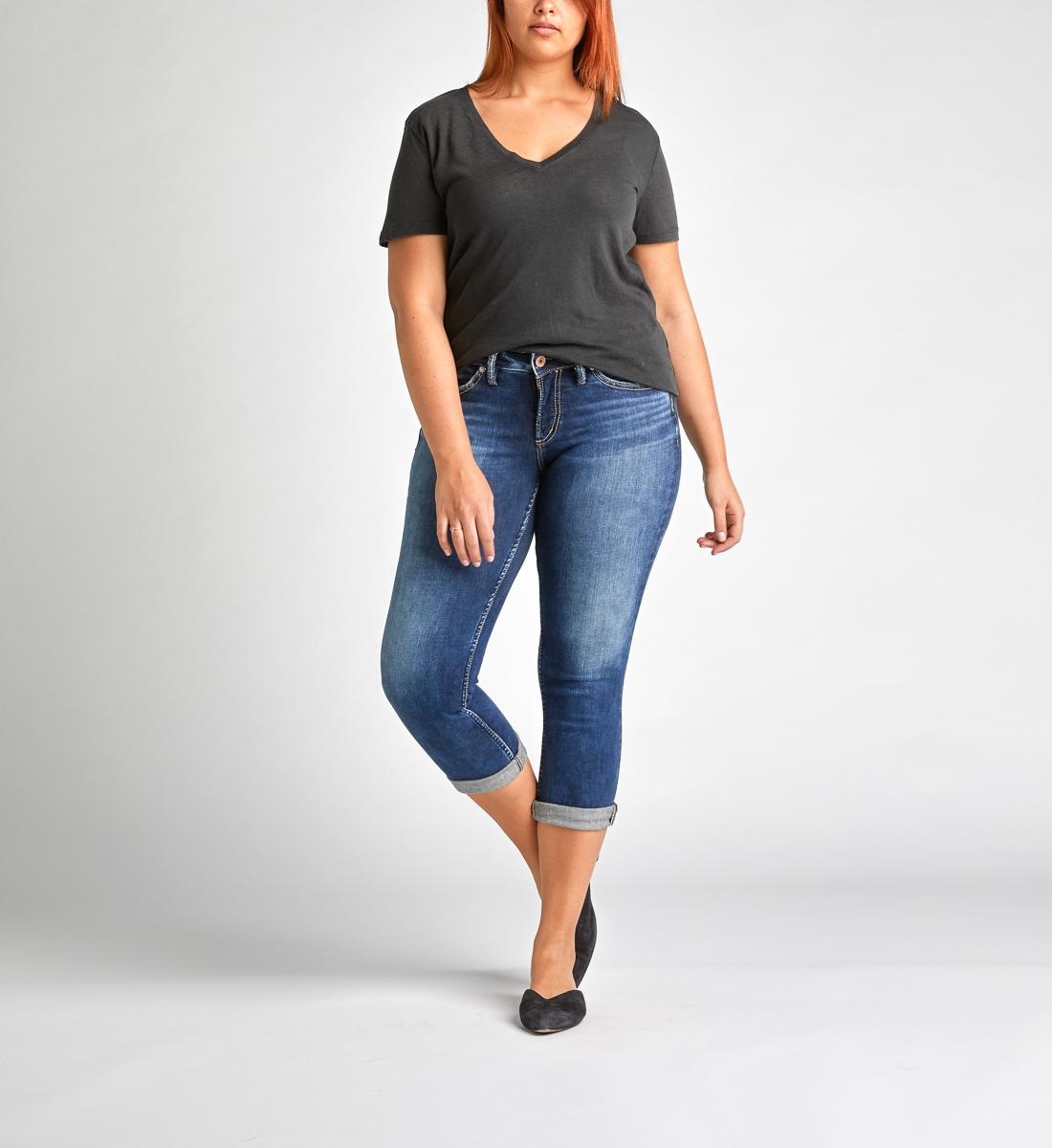 83659dc1c22877 Suki Mid Rise Capri - Silver Jeans US