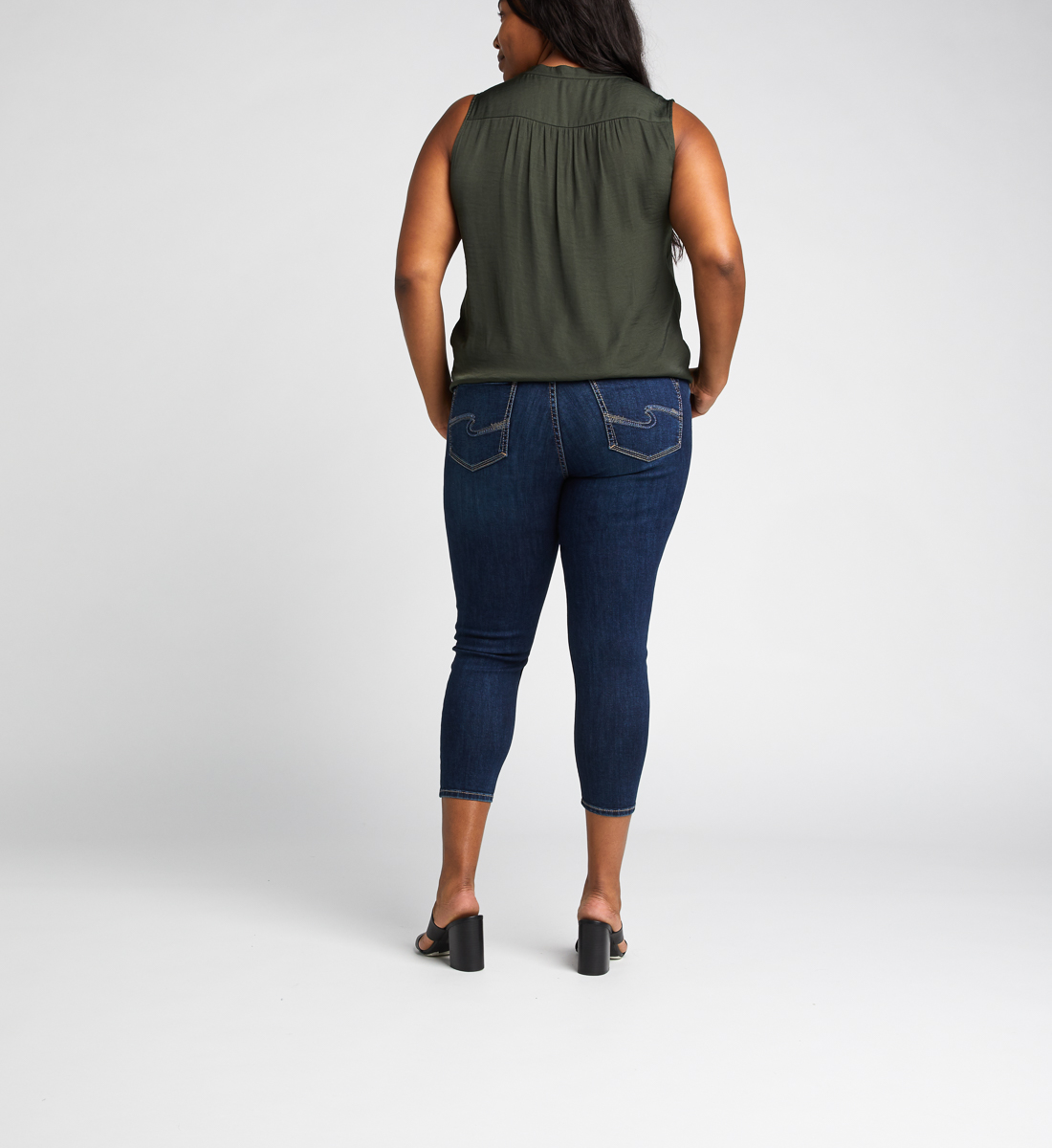Suki Mid Rise Skinny Crop Jeans Plus Size Back