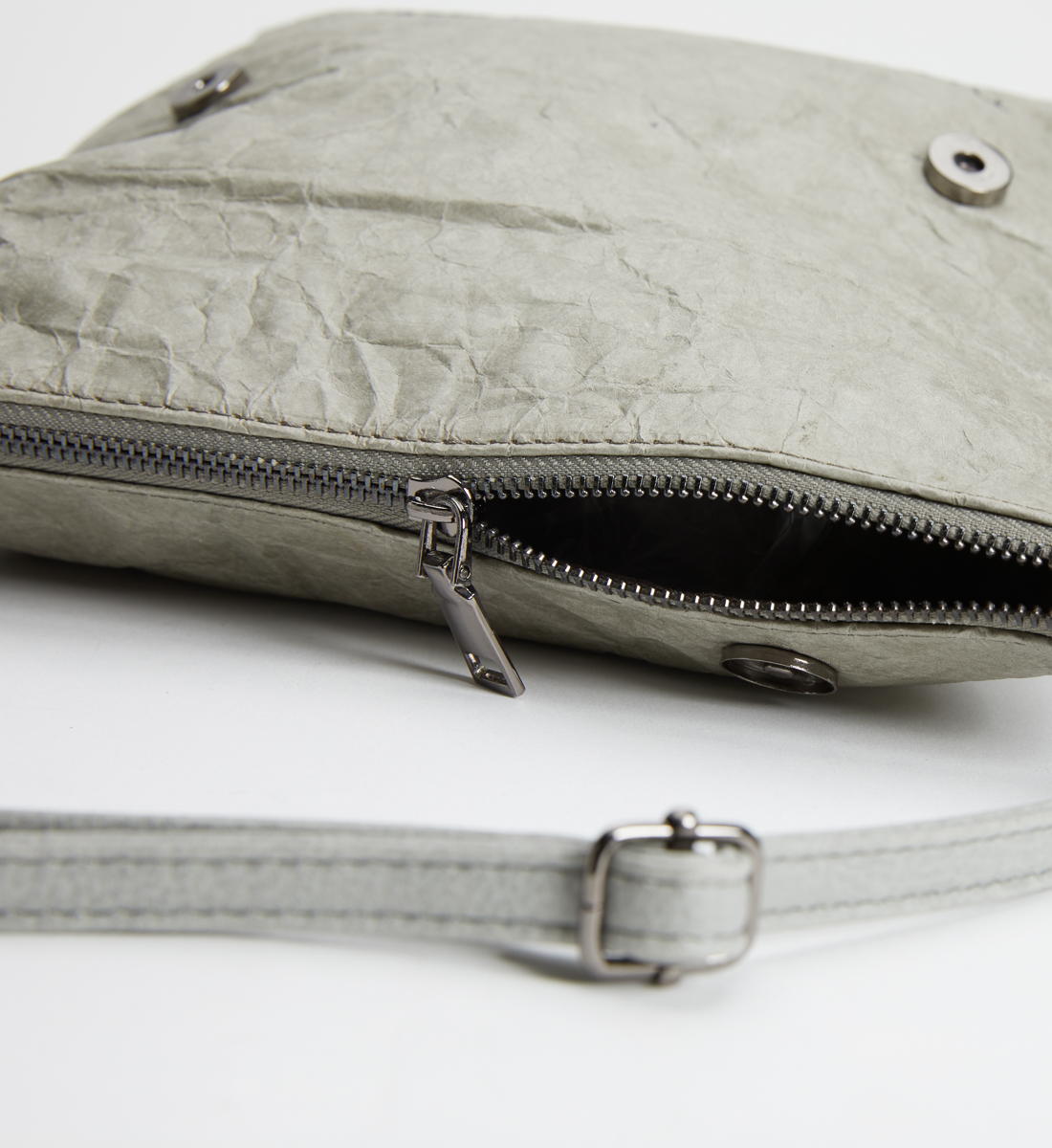 Recycled Paper Convertible Crossbody, Grey, swatch
