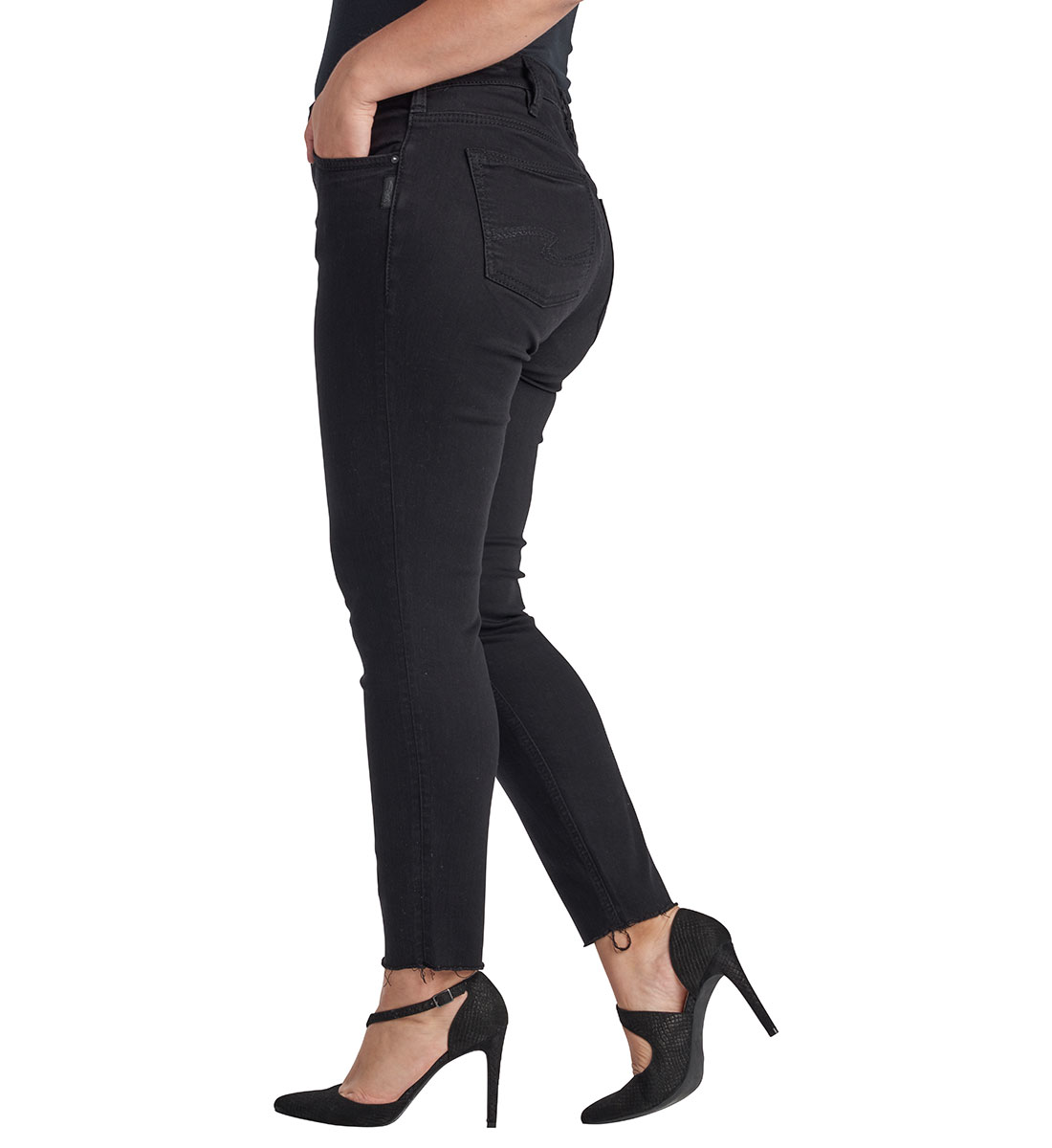 Mazy Ankle Skinny Black Back