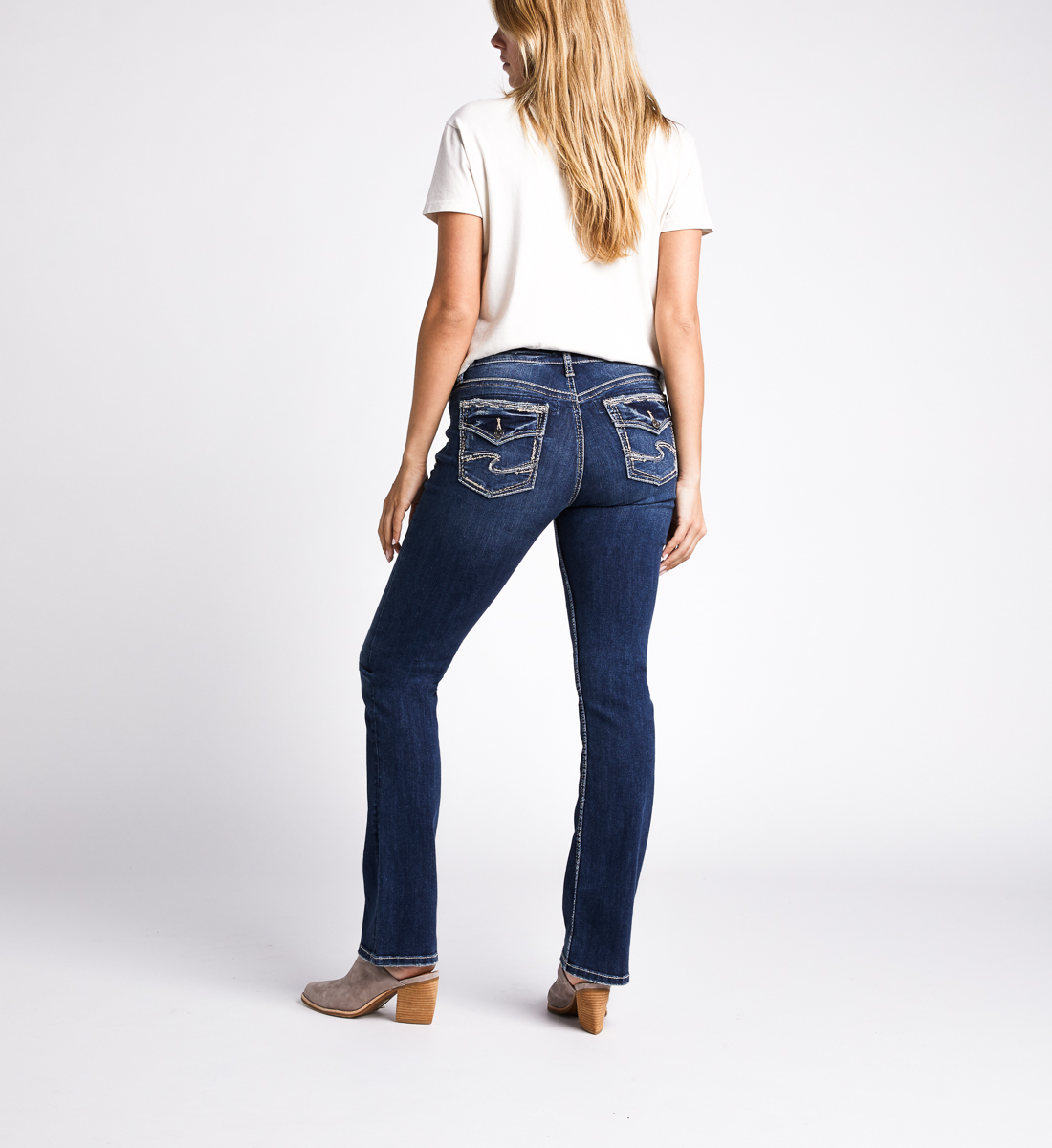 Avery High Rise Slim Bootcut Jeans,Indigo Back