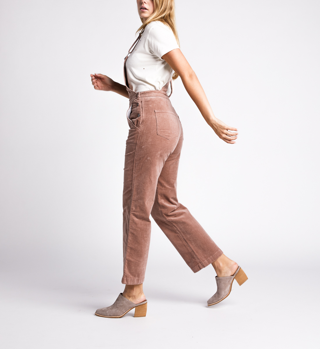 Overall Straight Leg Pants,Blush Side