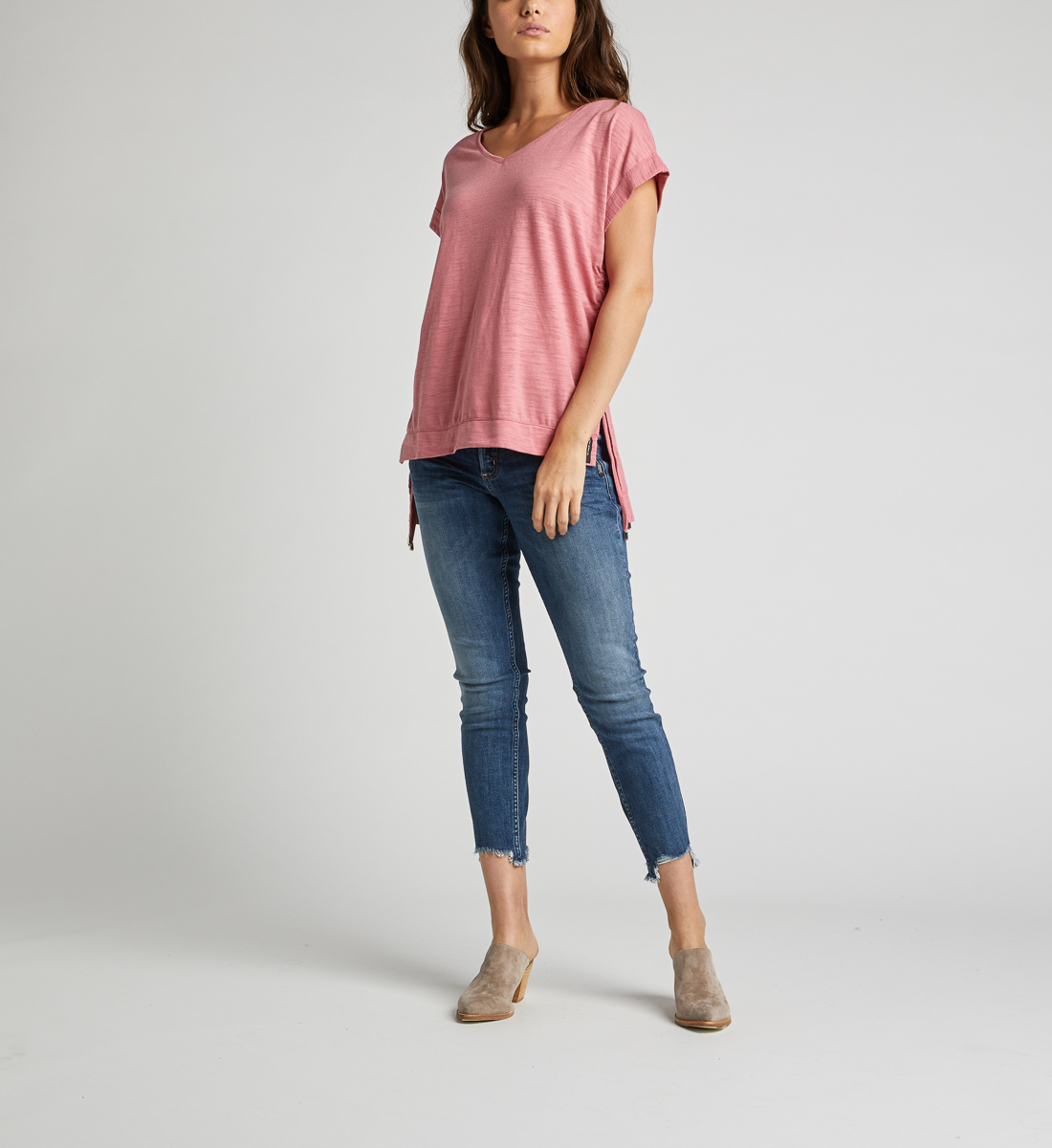 Agnes Side Tie Top,Rose Back