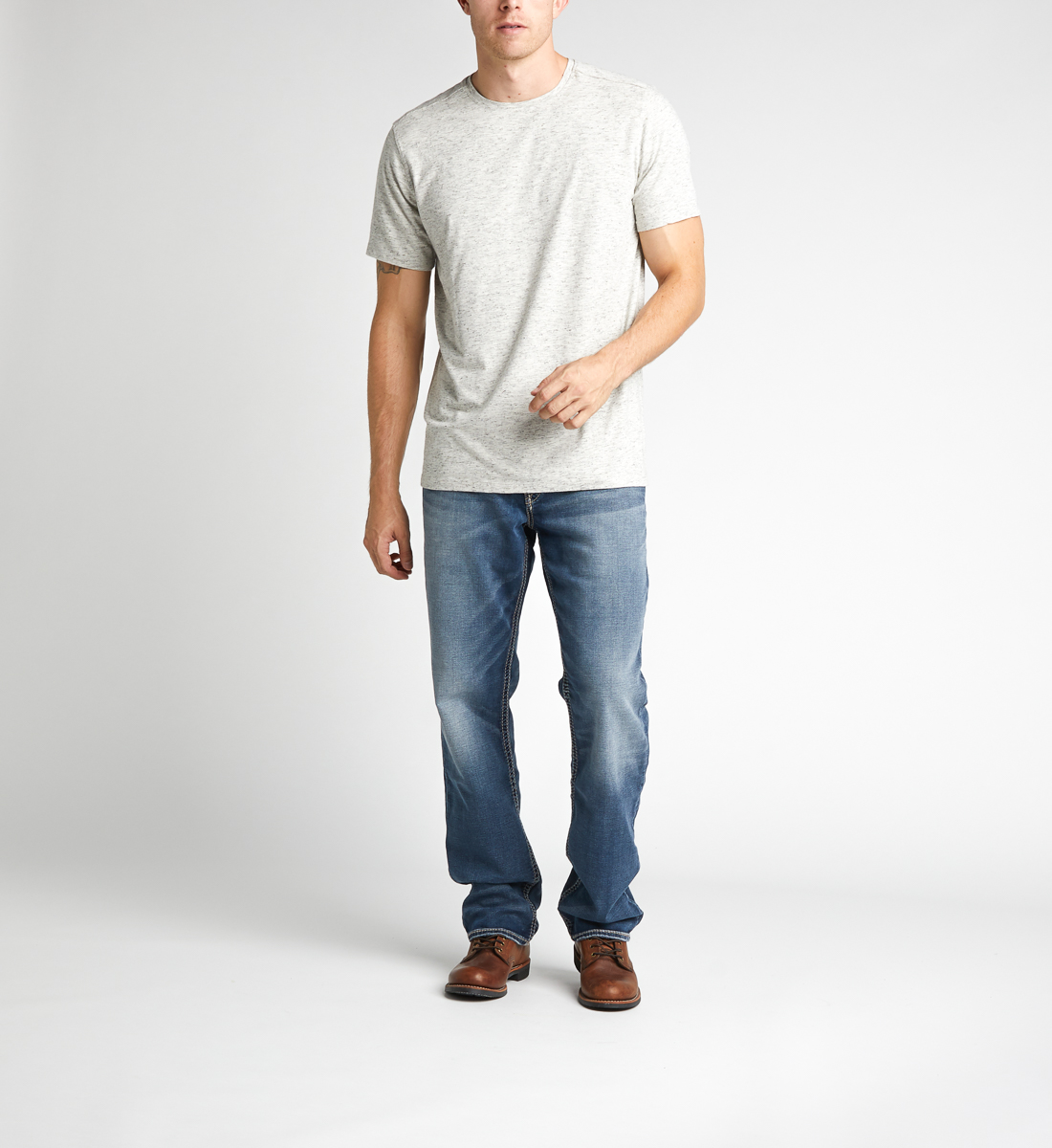 Eddie Tapered Mens Dark Wash - Big & Tall Alt Image 1
