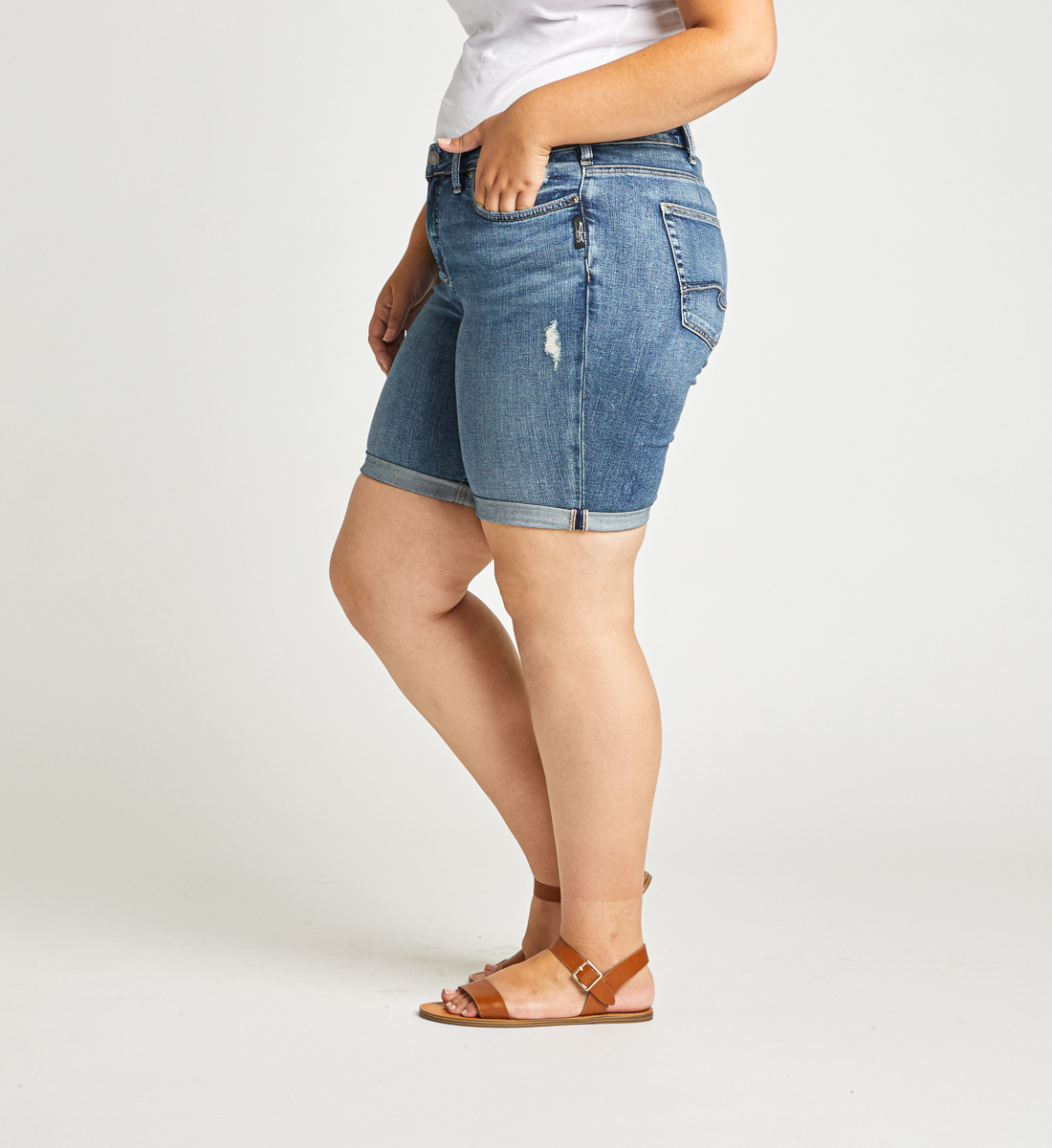 Avery High Rise Bermuda Short Plus Size Side