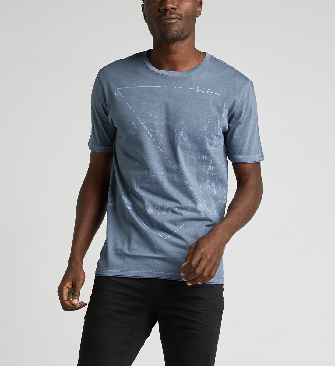 Dacoma Graphic Tee,Blue Front
