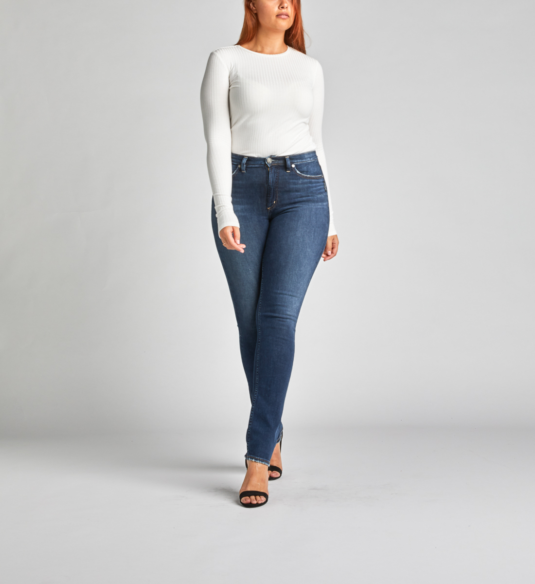 Calley Super High Rise Straight Leg Jeans Front