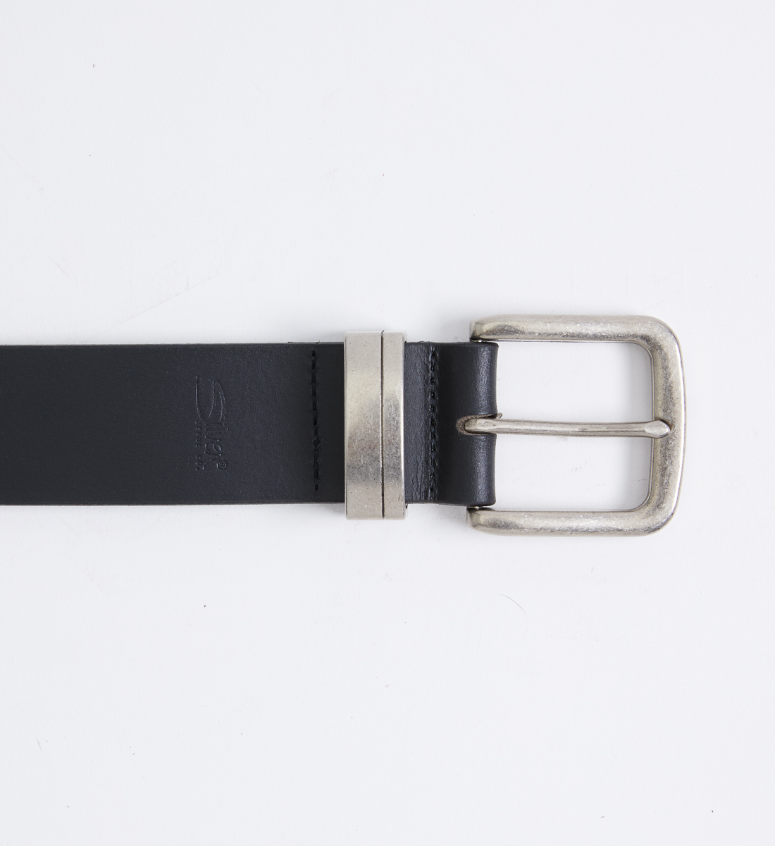 Classic Leather Mens Belt,Black Front