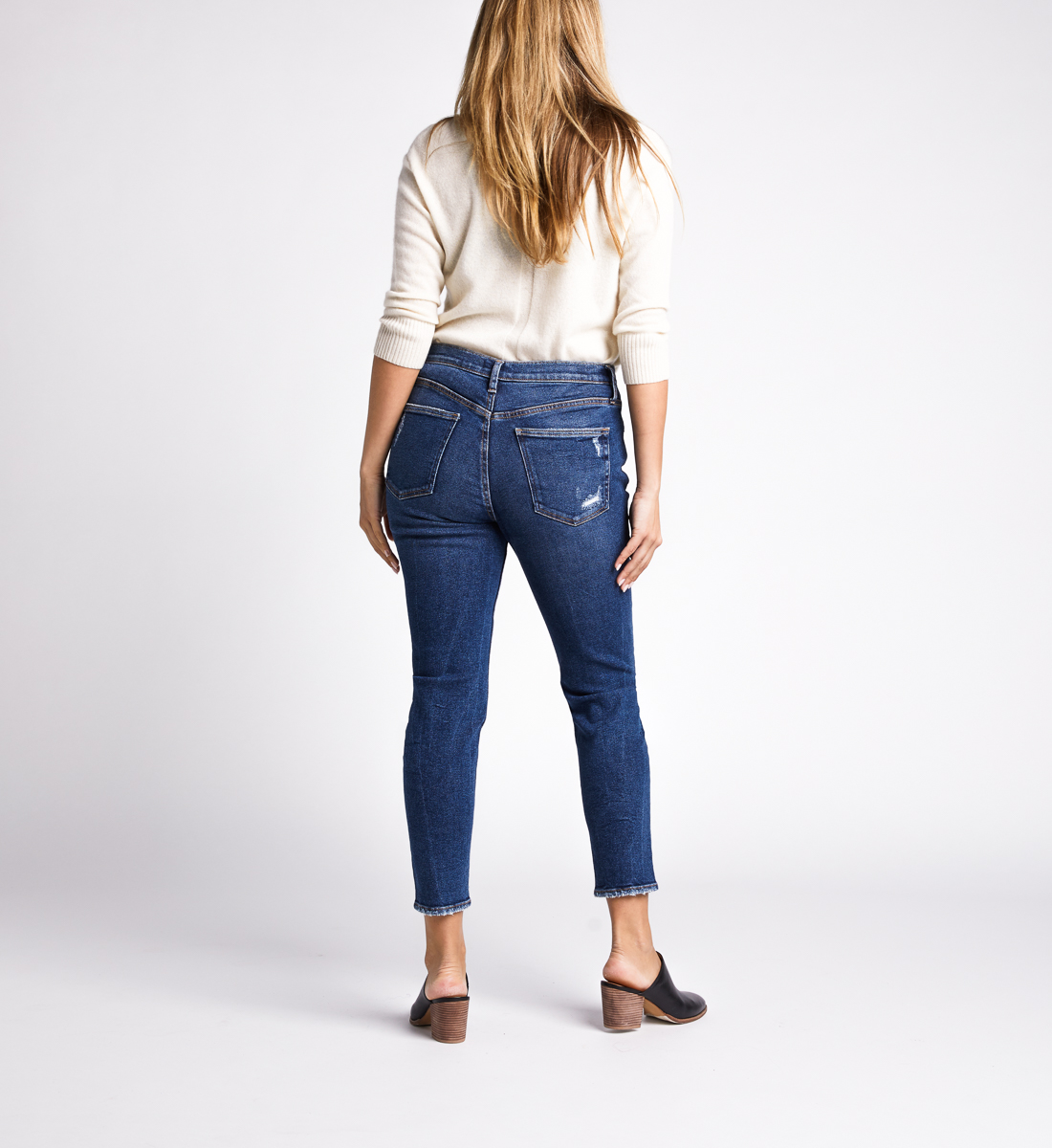 Frisco High Rise Skinny Leg Jeans,Indigo Back