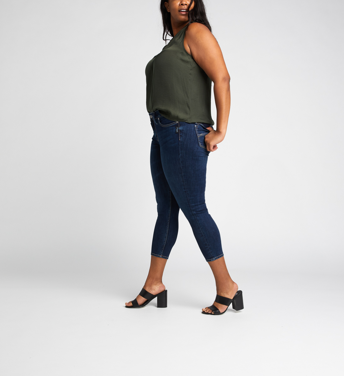 Suki Mid Rise Skinny Crop Jeans Plus Size Side