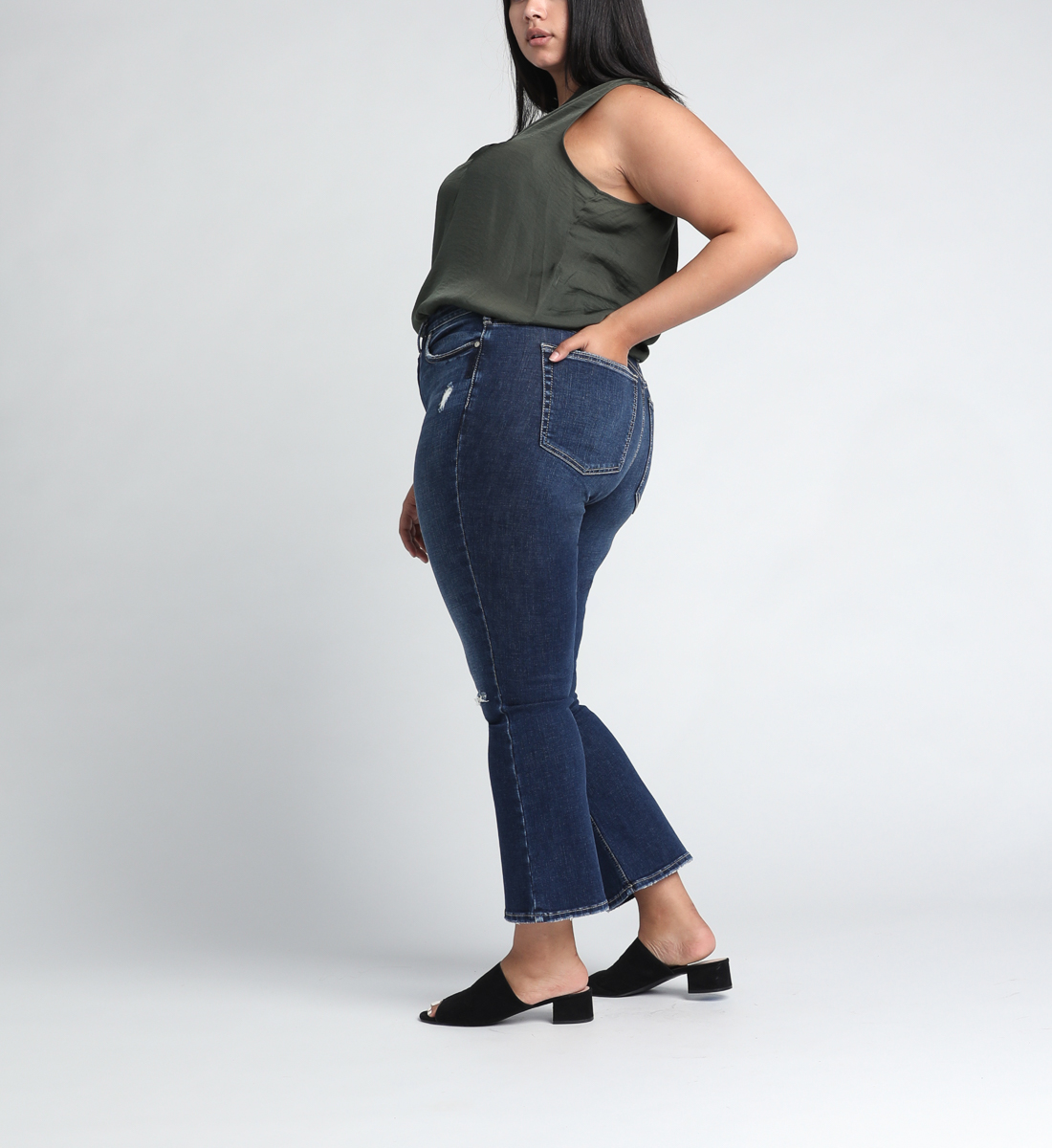 High Note High Rise Boot Crop Jeans Plus Size Side