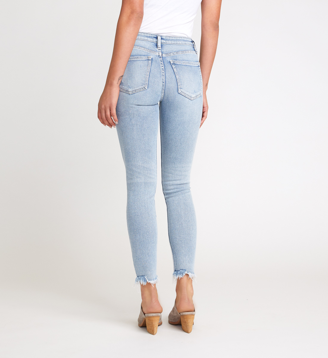 Most Wanted Mid Rise Skinny Jeans Back