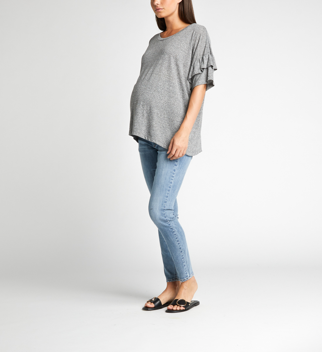 Avery Skinny Leg Maternity Jeans Side