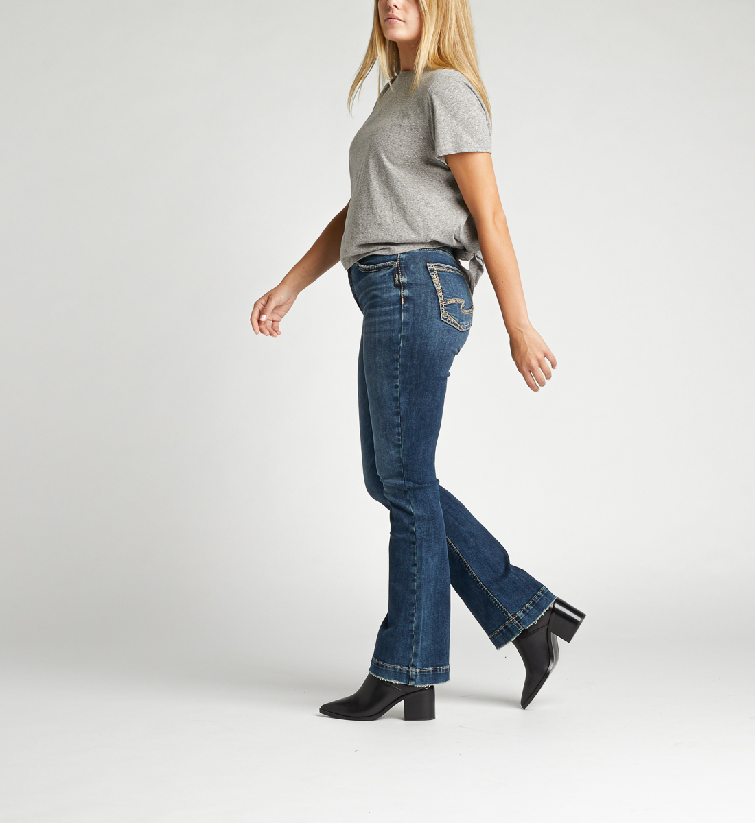 Calley Super High Rise Bootcut Jeans Side