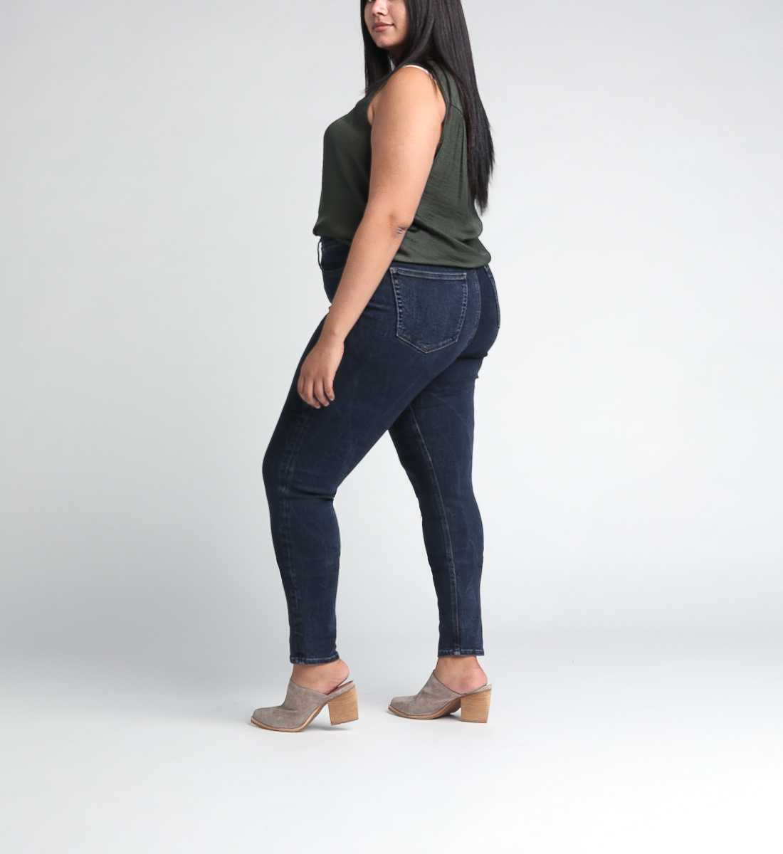 Calley Super High Rise Skinny Leg Jeans Plus Size Side