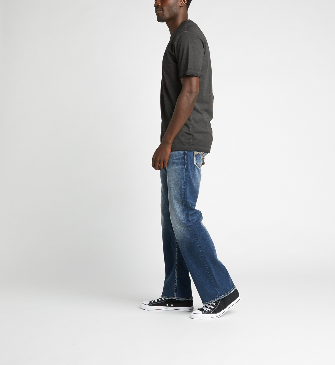 Zac Relaxed Fit Straight Jeans,Indigo Side