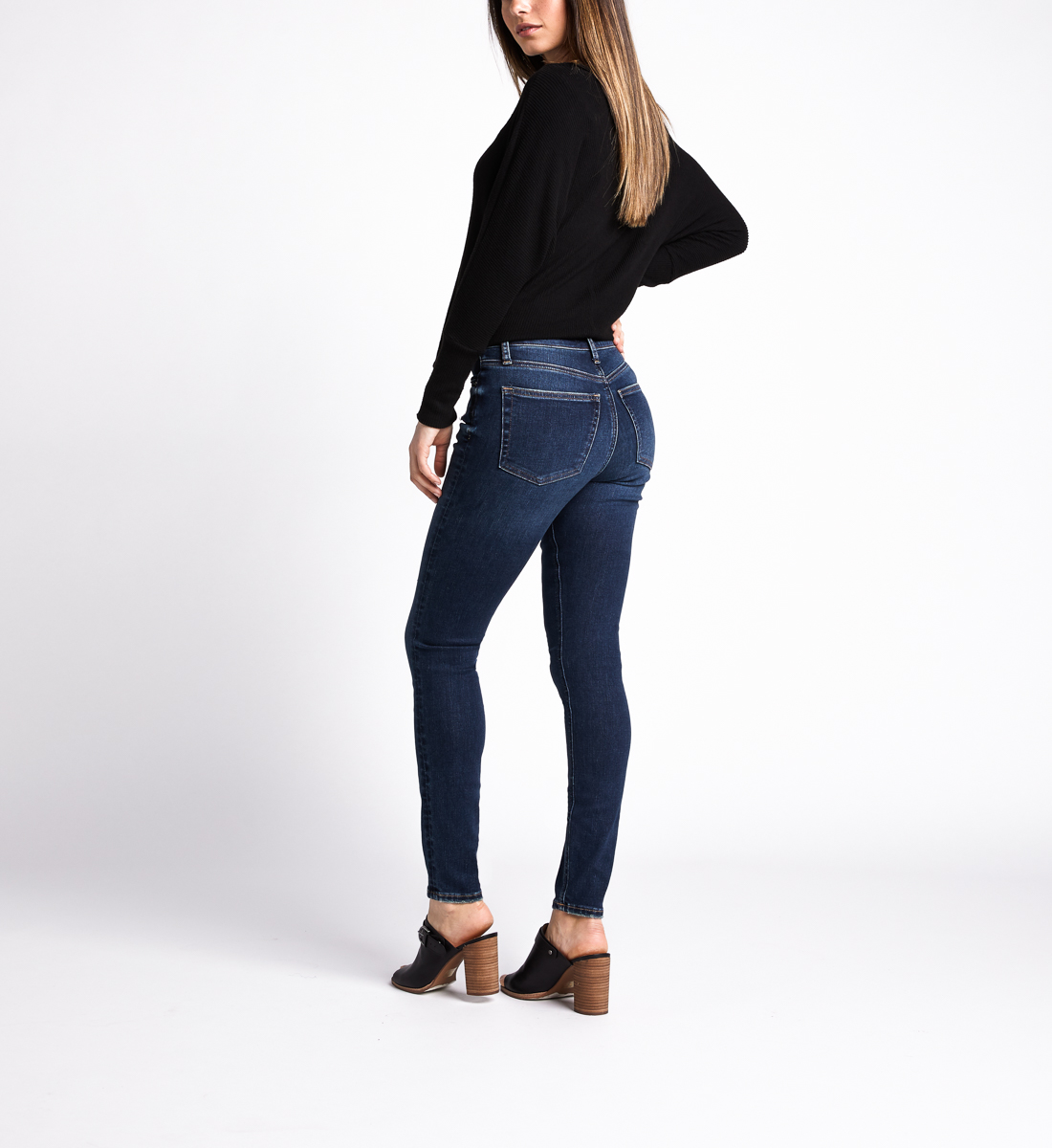 Most Wanted Mid Rise Skinny Leg Jeans,Indigo Back