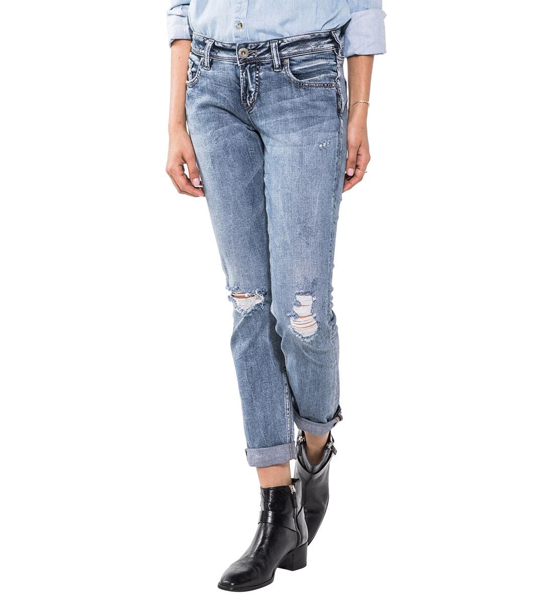 Sam Boyfriend Jeans Medium Wash Silver Jeans