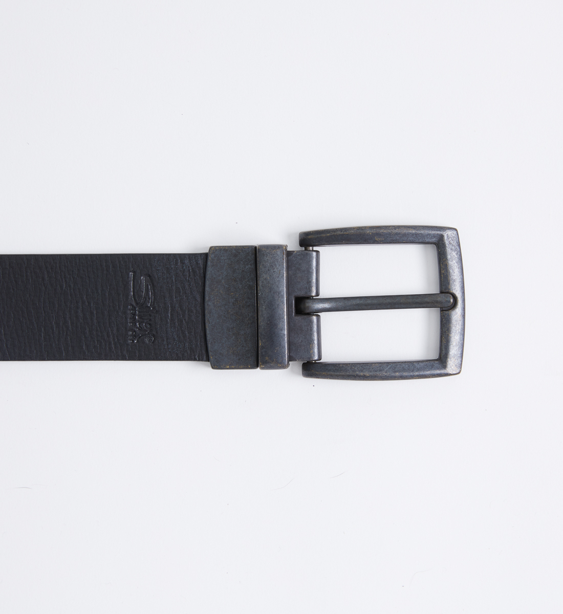 Reversible Leather Mens Belt Front