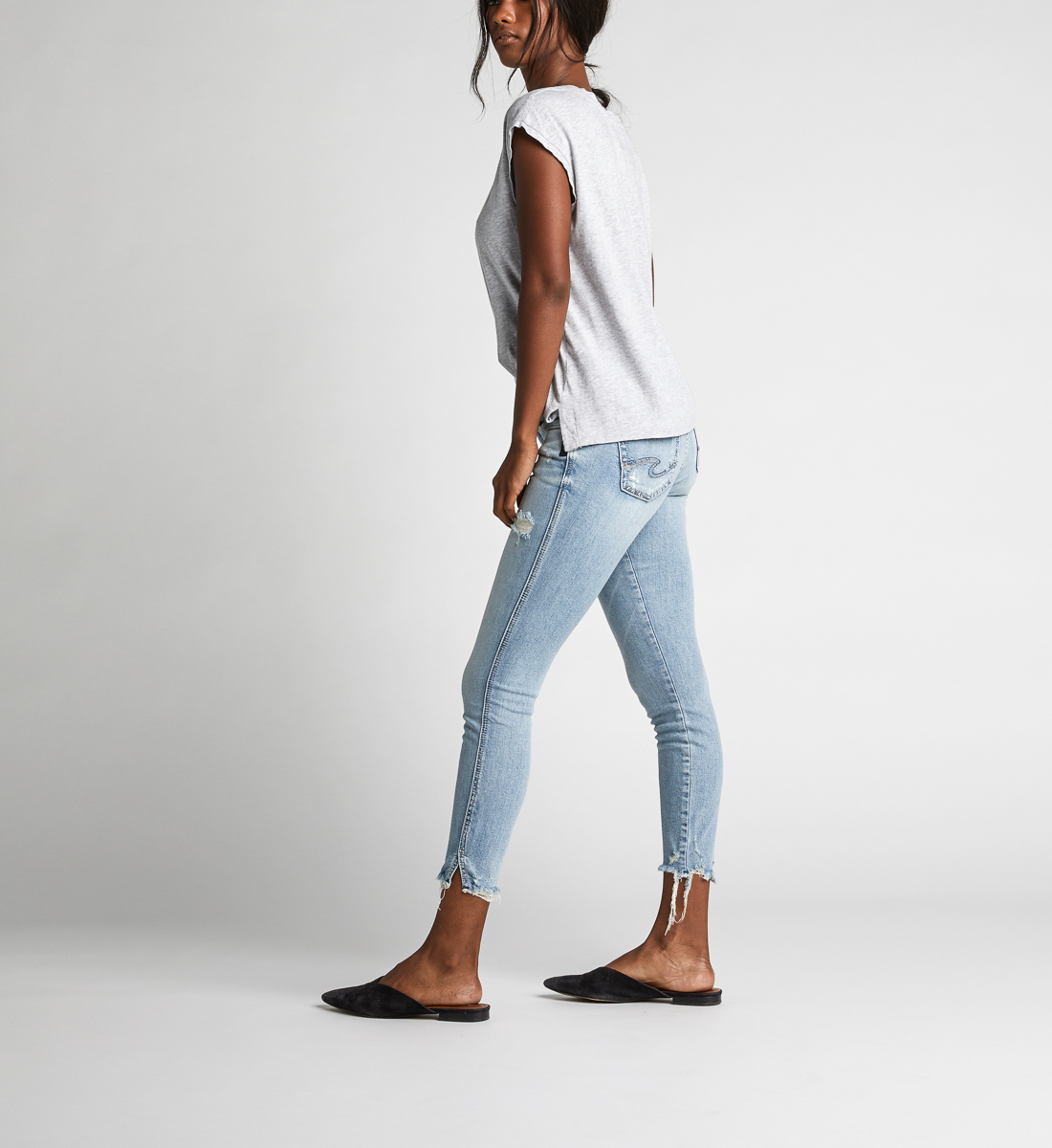 Suki Mid Rise Skinny Crop Jeans Side