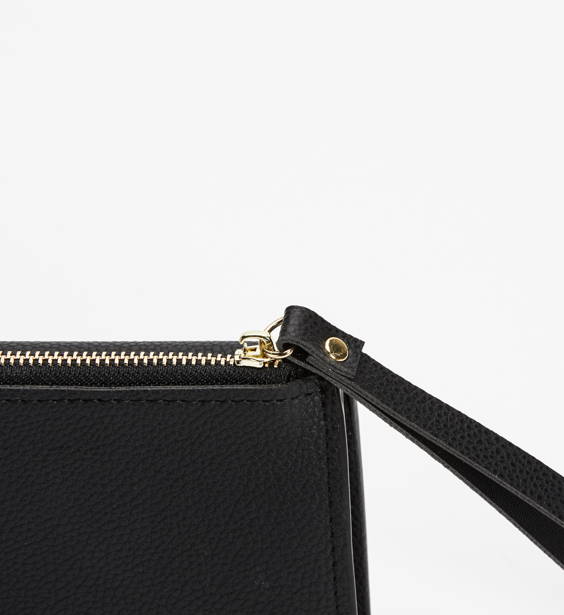 Small Flap Wristlet Wallet,Black Side