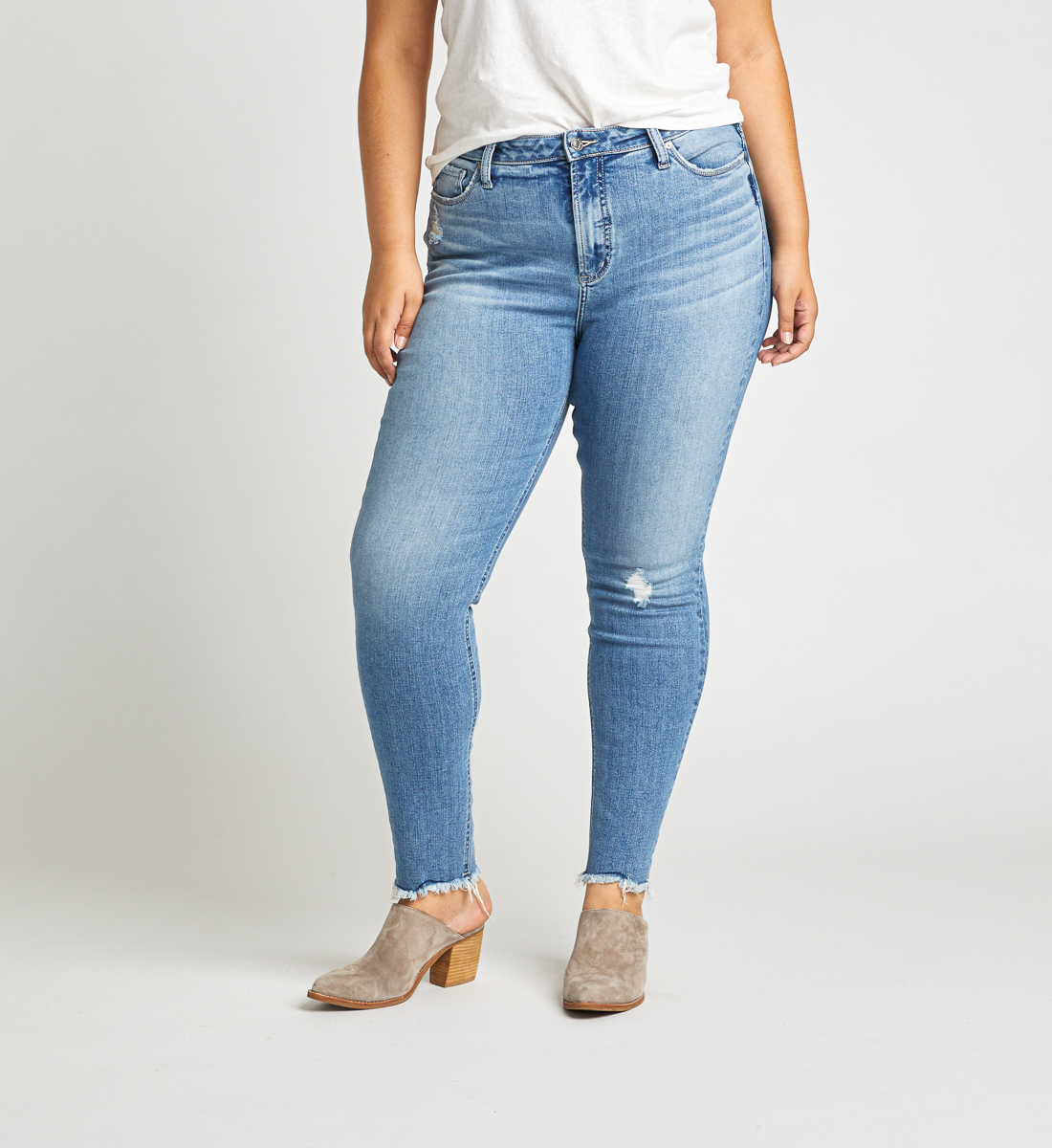 High Note High Rise Skinny Jeans Plus Size Front